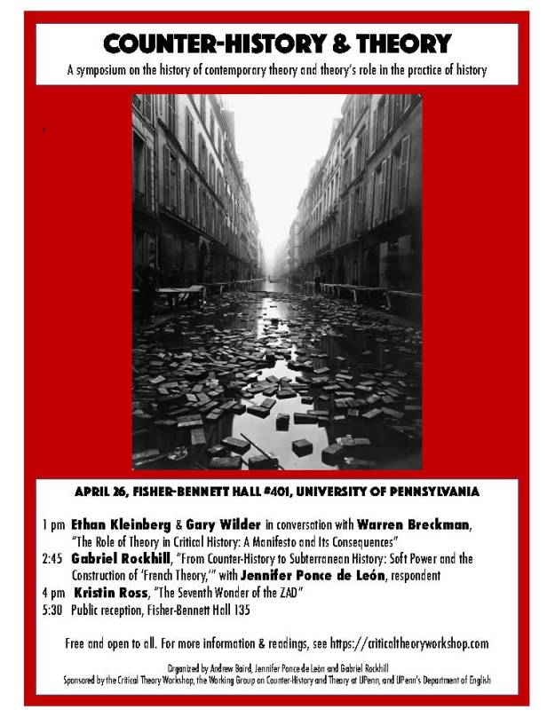Counterhistories of theory April 26